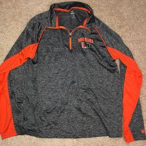 University of Miami 3/4 lightweight jacket NWOT